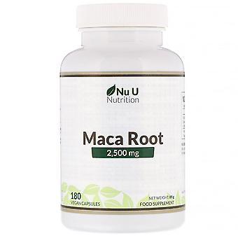Nu U Nutrition, Maca Root, 2,500 mg, 180 Vegan Capsules