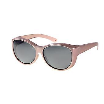 Sunglasses Women metallic pink with grey lens Vz0034pz