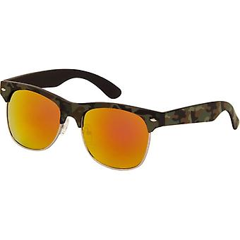 Sunglasses Unisex camouflage green with mirror lens (AZB-24)