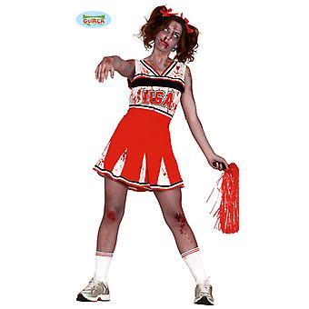 Líder de torcida zumbi traje de Estados Unidos para senhoras Halloween horror mortos-viva desportista