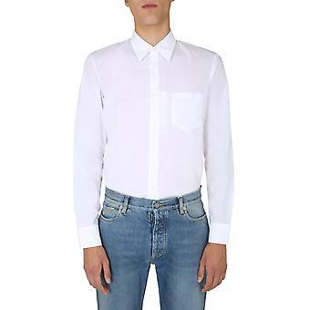 Maison Margiela S50dl0393s39545100 Heren's Wit Katoenen Shirt