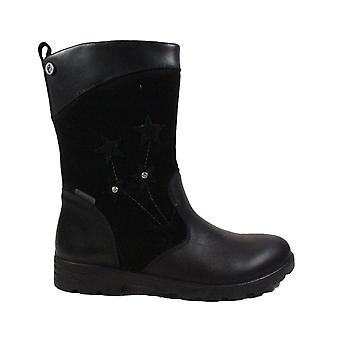 Ricosta Steffi 7224600-092 Black Suede/Leather Girls Long Leg Boots