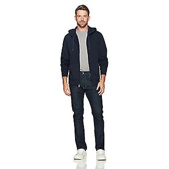 Essentials Män' s Standard Full-Zip Hooded Fleece Sweatshirt, Navy, X-S ...