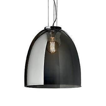 Ideel Lux Eva - 1 Lys stor kuppel loft vedhæng Grå, Smokey, E27