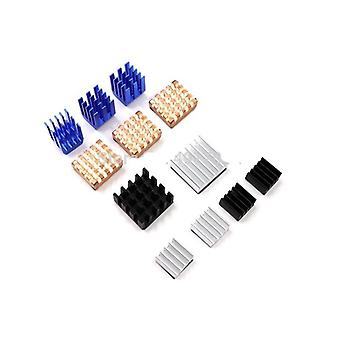 12 Pcs/set Heat Sink Aluminum Copper Radiator Cooler Kit