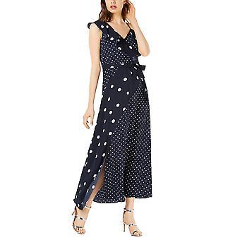 Bar III   Mixed Dot-Print Maxi Dress