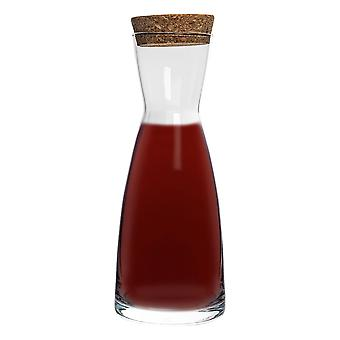 Bormioli Rocco Ypsilon Water Carafe Decanter Jug with Cork Lid - 285ml