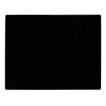Glas bordplade Saver skærebræt | 50 x 40 cm - Sort | Skridsikker hærdet beskytter til køkkenoverflader