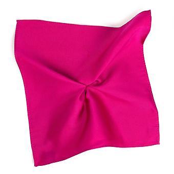 Ties Planet Plain Fuchsia Pink Silk Pocket Square Zakdoek door Tresanti