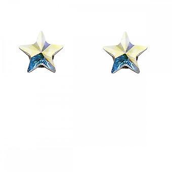 Inizio Sterling Argento Iridescente Star Orecchini A2036
