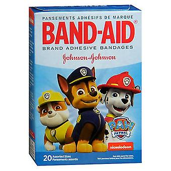 Band-Aid Bandages Nickelodeon Paw Patrol Assorted Sizes, 20 Each