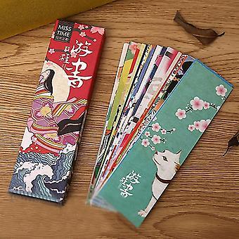 Söpö vintage japanilainen tyyli kirjamerkit / opiskelija / koulu / toimisto (noin 4 * 15cm)
