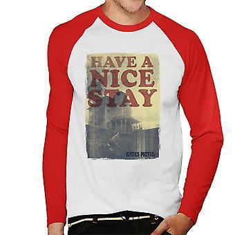 Psycho Bates Motel Have A Nice Stay Men's Baseball Long Sleeved T-Shirt