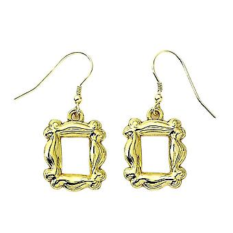 Friends Gold Plated Iconic Photo Frame Drop Earrings