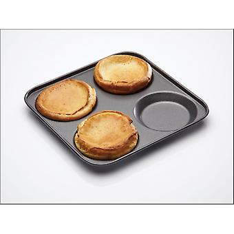 Kitchen Craft Master Class Non Stick Yorkshire Pan 4 hole KCMCHB16