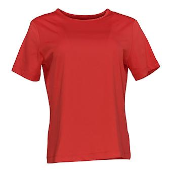 Susan Graver Women's Top Essentials Butterknit T-shirt Rood A96742