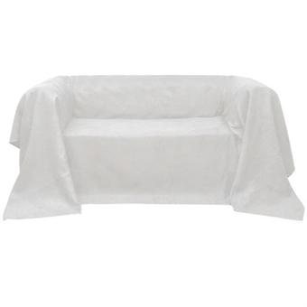 Micro-Suede Sofa Overlay Day Blanket Cream 210 x 280 cm