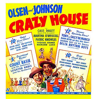 Crazy House Us Poster From Left Ole Olsen Chic Johnson 1943 Movie Poster Masterprint