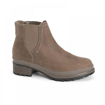 Muck Boots Liberty Premium Taupe Leather Chelsea Waterproof Boots