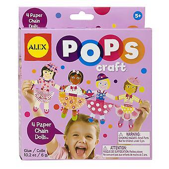 Alex hračky papírový řetěz panenky objeví řemeslo (4-kus)