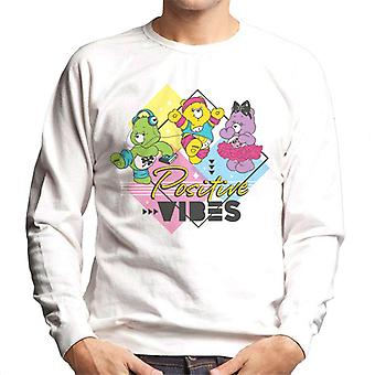 Care Bears Good Luck Bear Positive Vibes Men's Sweatshirt