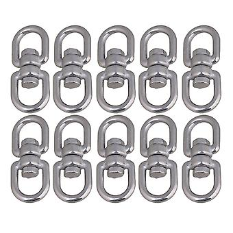10 x M4 Diameter 6mm Stainless Steel 304 Swivel With Eye to Eye Rigging Ring