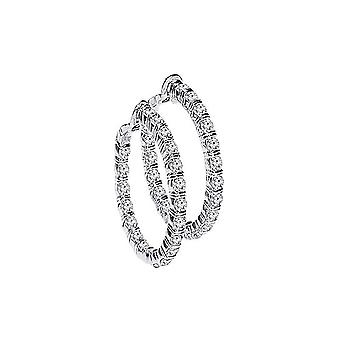 1/2 Boucles d'oreilles Carat Hoop Diamond White Gold
