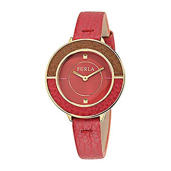 Furla R4251109501 Club 34Mm 2H Ruby Dial Ruby Strap