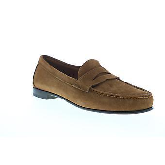 Sebago Clark Suede  Mens Brown Suede Slip On Loafers & Slip Ons Penny Shoes
