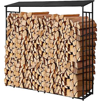 SoBuy SDA04-SCH,Firewood Rack Firewood Shelf Holder Outdoor Firewood Shelter Garden Log Storage Shed