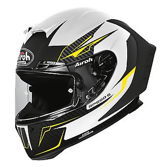 Airoh GP550S Venom Full Face Motorcycle Helmet Hi-Vis Reflective White