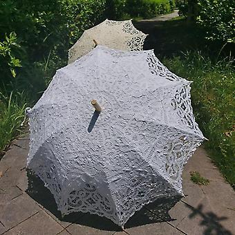 Baumwolle Sonne Batten viktorianischen Spitze Sonnenschirm Regenschirm Haken Griff Sonnenschirm Hochzeit