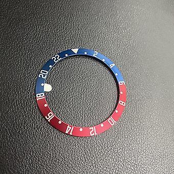Černá /modrá / červená / červená / stříbrná / hliníková rámová vložka pro výměnu ciferníku