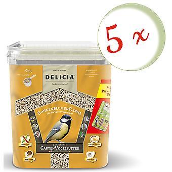 Sparset: 5 x FRUNOL DELICIA® Delicia® Sunflowers, 3 kg