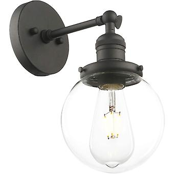 Phansthy Industrial Wall Lights Vintage Wall Sconces (Black)