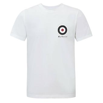 Ben Sherman Mens Target T-Shirt Short Sleeve Top White 0062111 010