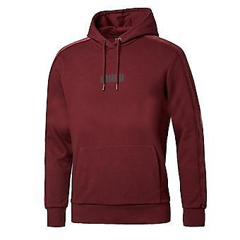 Puma Mens Velvet Hoodie Logo Jumper Burgundy Sweat 844462 02