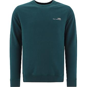 A.p.c. Coeash27608kaf Men's Green Cotton Sweatshirt
