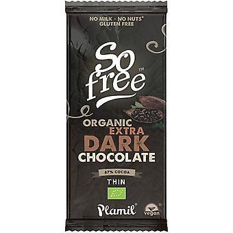 So free Extra Dark 87% cocoa Thin Organic 12x80g
