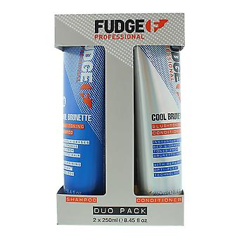 Fudge Cool Brunette Toning-Blue Shampoo 250ml & Conditioner 250ml Duo