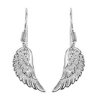Sterling Silver Angel Wing Dangle korvakorut
