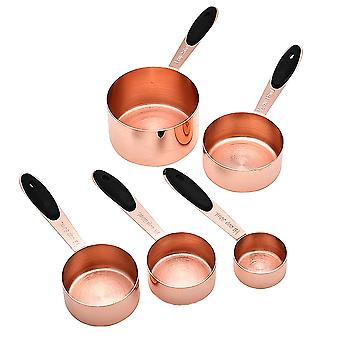5 Pieces Stainless Steel Measuring Cups Set For Baking