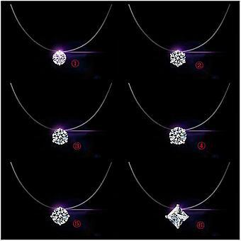 Reducere Pret 925 Sterling Silver Femei Lanț scurt pentru bijuterii parte Clar