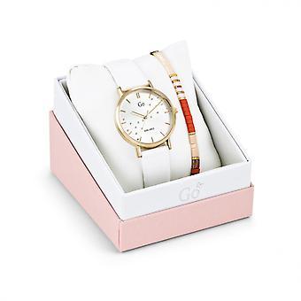 Relógio feminino Go Girl Só Assiste 698571 - Pulseira de Couro Branco