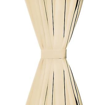 Cortinas micro-satén 2 piezas. con bucles 140x245 cm beige