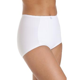 Camille Womens Two Pack White Eternal Control Briefs