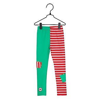 Pippi Langkous Patch Leggings (Rood/Groen) 86 cl