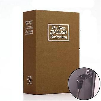 Dictionary Mini Box Book Hidden Secret Security Safe Key Lock