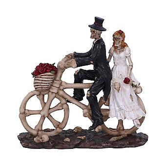 Nemesis Now Hitch a Ride Bicycle Riding Skeleton Lovers Wedding Figurine 14.5cm