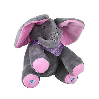 Elektrisk søt liten elefant animert flappy push dukke barn til stede